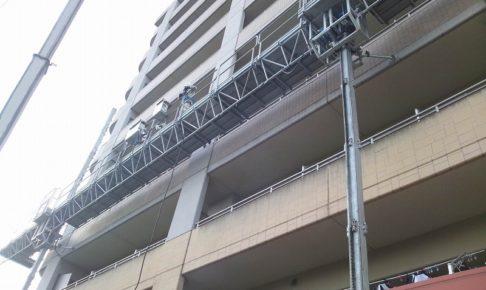 リフトクライマーによるマンションの大規模改修