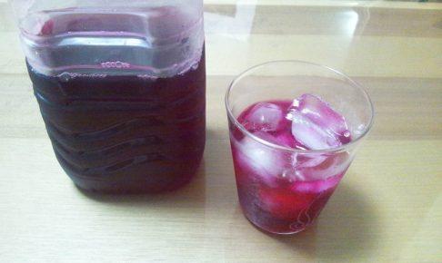 自家製の赤しそジュース