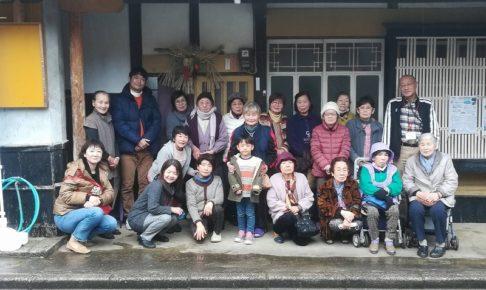 岐志浜の古民家での集合写真