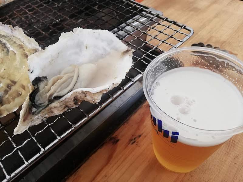 かきとビール