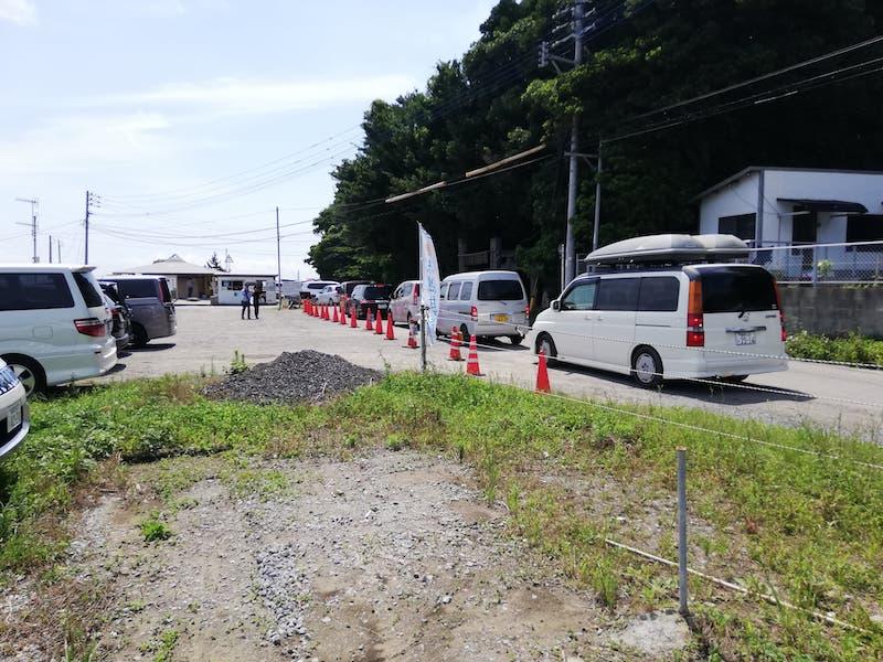 福の浦漁港のハイシーズンの渋滞