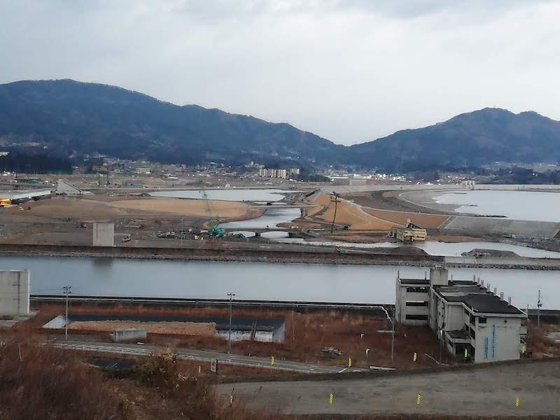 陸前高田市の遠景
