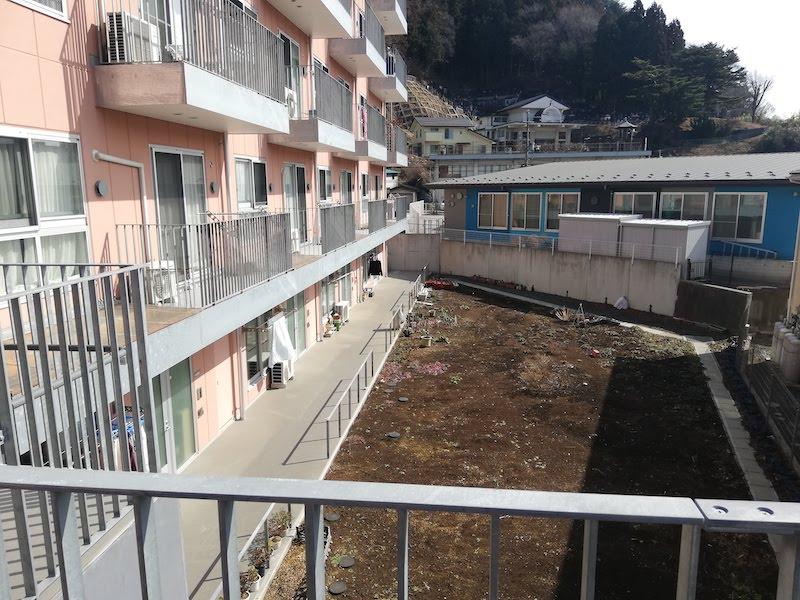 釜石市の復興公営住宅の外観