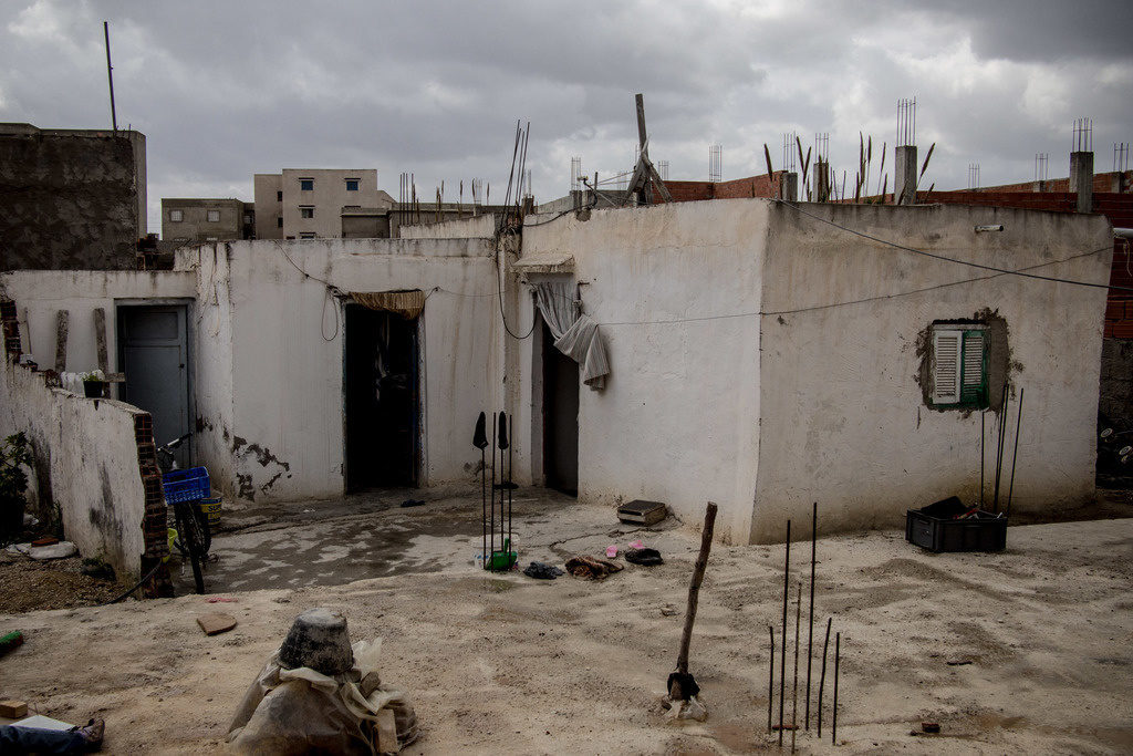 チュニジアの建てかけの家