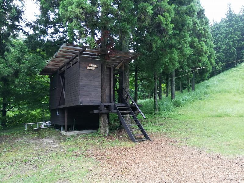 フォレストアドベンチャー・糸島の受付付近にあるトイレ