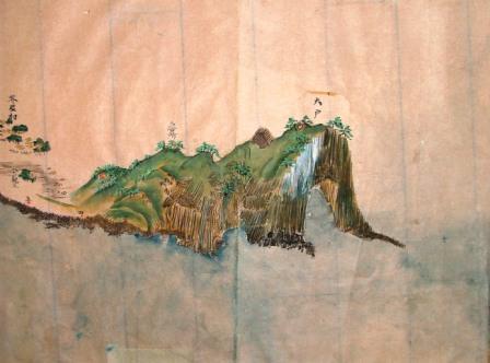 元禄時代(江戸時代)に描かれた芥屋の大門(糸島高校郷土博物館所蔵)